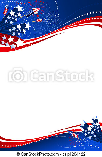 Background 4th of July vertical - csp4204422