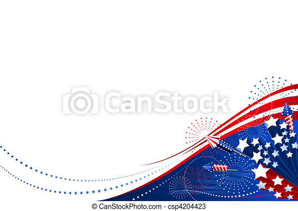 Background 4th of July horizontal - csp4204423