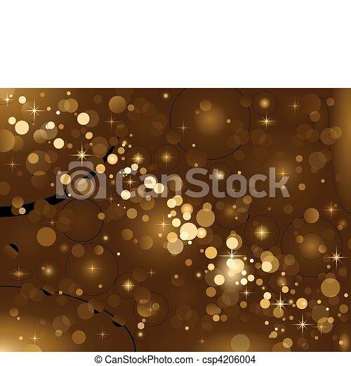 Magic lights, background sparkle, b - csp4206004