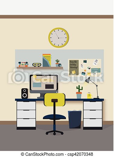 Modern room Vector - csp42070348