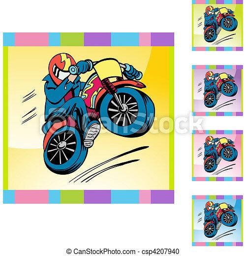 Motorcycle Stunt - csp4207940