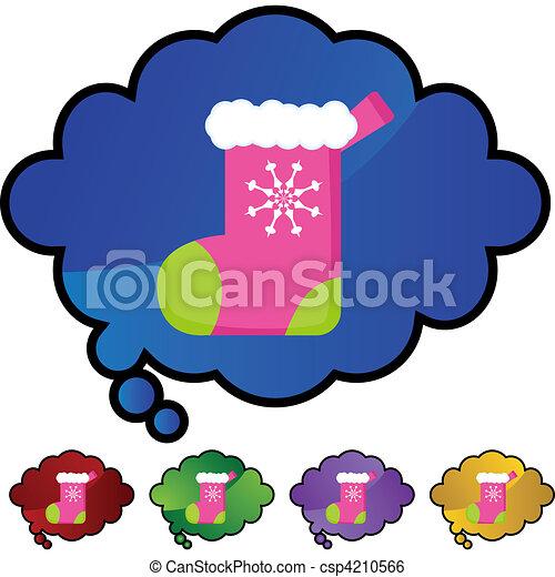 Christmas Stocking - csp4210566