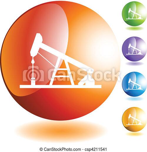 Oil Rig - csp4211541