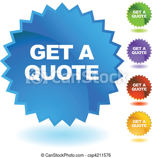 Quote Icons Free Get Quote Csp4211576