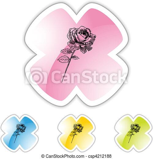 Rose Stem - csp4212188