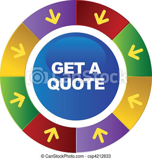 Quote Icons Free Get Quote Csp4212633