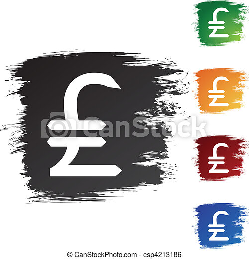Pounds Money Sign - csp4213186