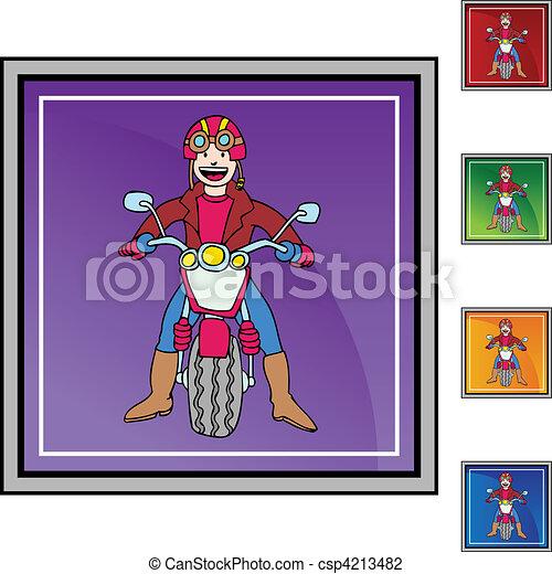 Motorcycle Rider - csp4213482