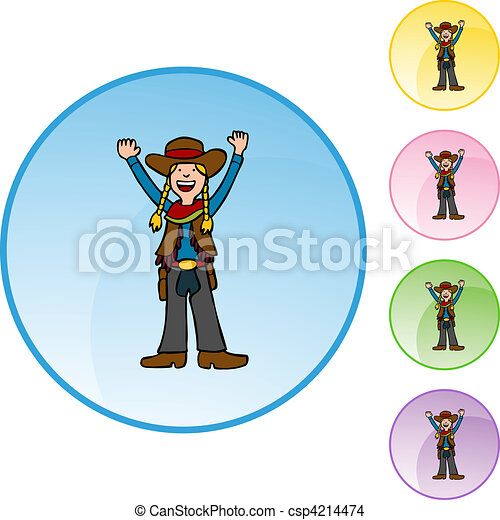 Cowgirl - csp4214474