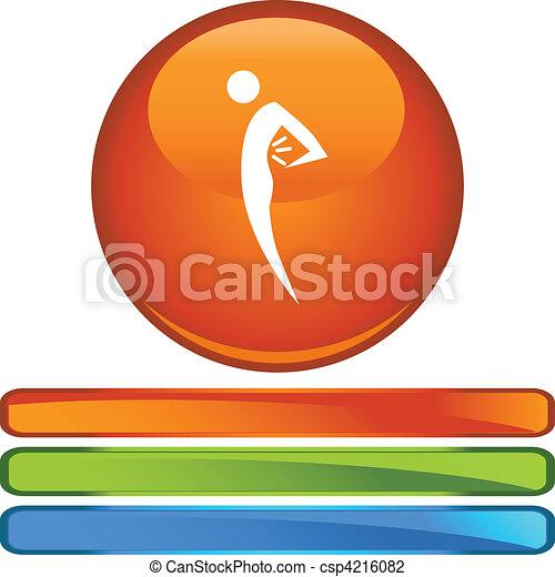 Back Pain Figure - csp4216082