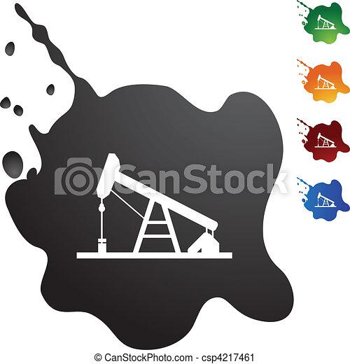 Oil Rig - csp4217461