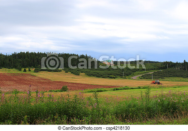 Rural New Brunswick farmland - csp4218130