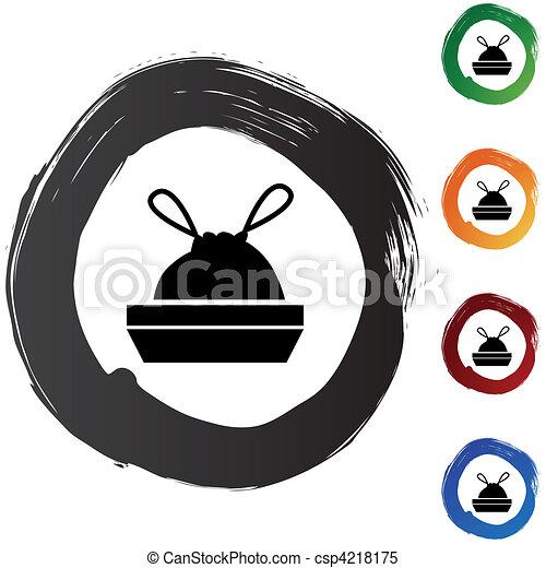 Trash Bag Drawing Trash Bag Csp4218175