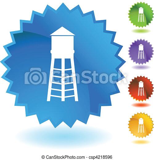 Water tower illustration design element graphic clip art Clipart ...
