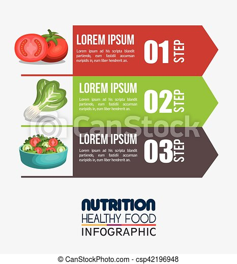nutrition food infographic icons - csp42196948