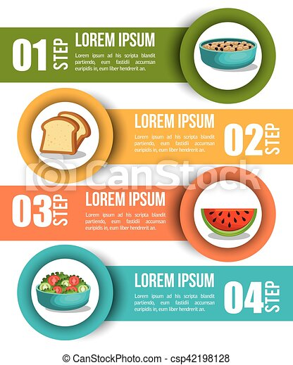 nutrition food infographic icons - csp42198128