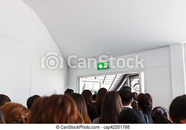 People escape to fire exit door - csp42201768