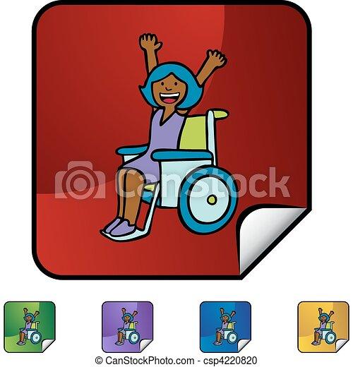 Disabled Girl - csp4220820