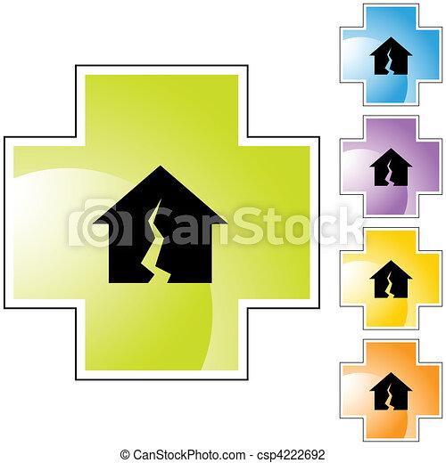 Damaged Home - csp4222692