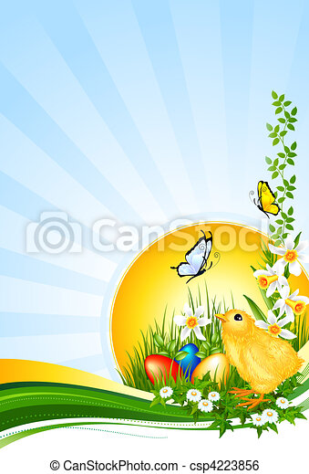 Background Easter - Hintergrund Ostern - csp4223856
