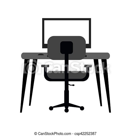 Büroarbeitsplatz clipart  Büroarbeitsplatz Clipart | afdecker.com