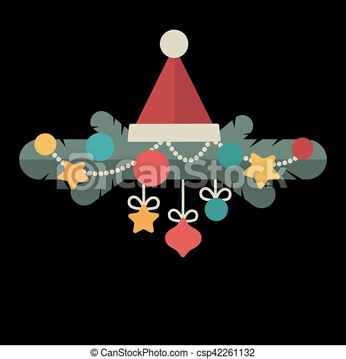 Christmas design template card. Vector background - csp42261132