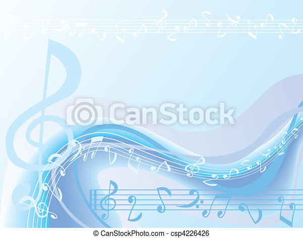 Blue Music Background  - csp4226426