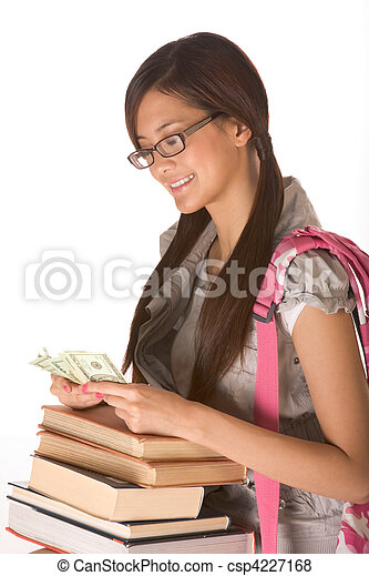 Getting tuition money to cover cost of education - csp4227168