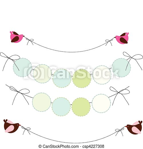 wall party banner - csp4227308