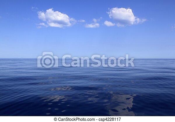 blue sea horizon ocean perfect in calm - csp4228117