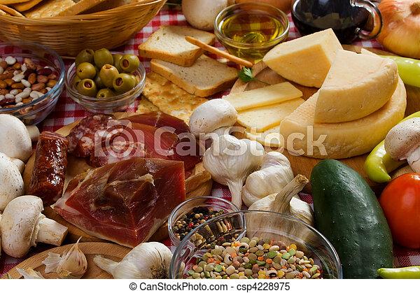 Italian food ingredients - csp4228975