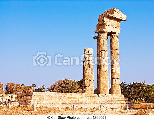 Acropolis in Rhodes Island - csp4229091