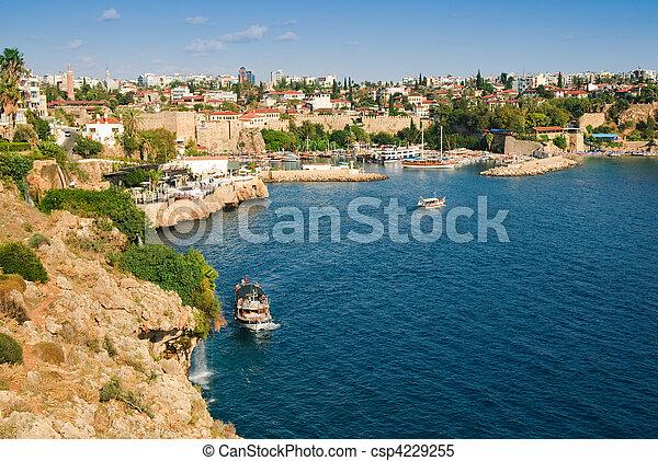 Beautiful view of Antalia harbor - csp4229255