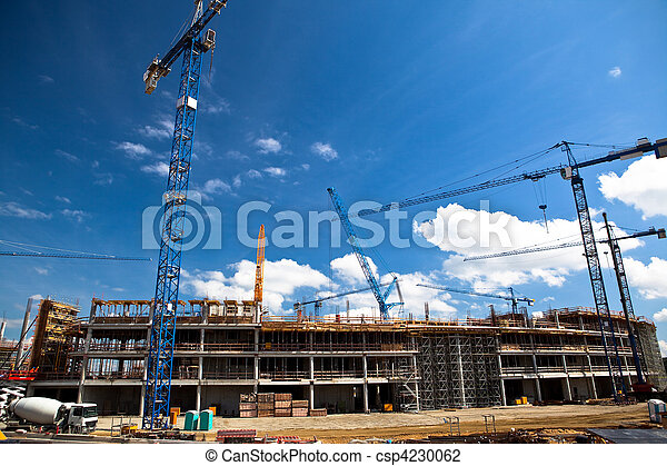 Construction site of football stadium in Wroclaw - csp4230062