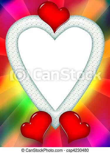 coloridos, Amor, Quadro - csp4230480