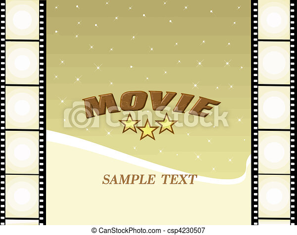 vectors illustration of movie poster   movie background