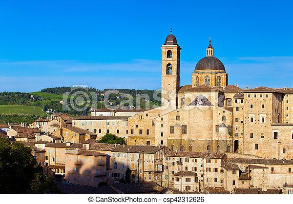 Medieval city Urbino in Italy - csp42312626