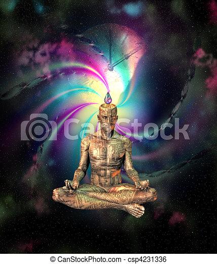 Sci Fi Meditation - csp4231336
