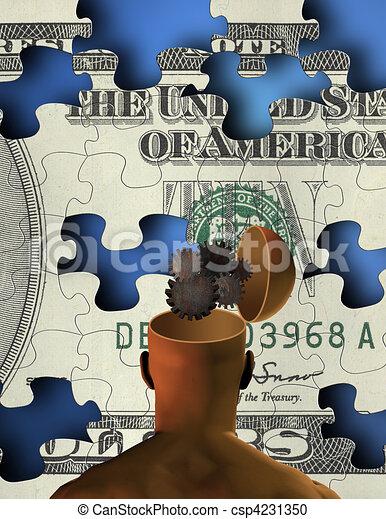 Open Mind Creative Wealth - csp4231350