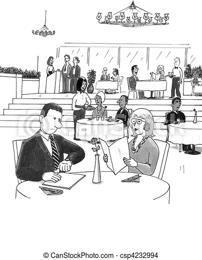 People in a Busy Restaurant - csp4232994