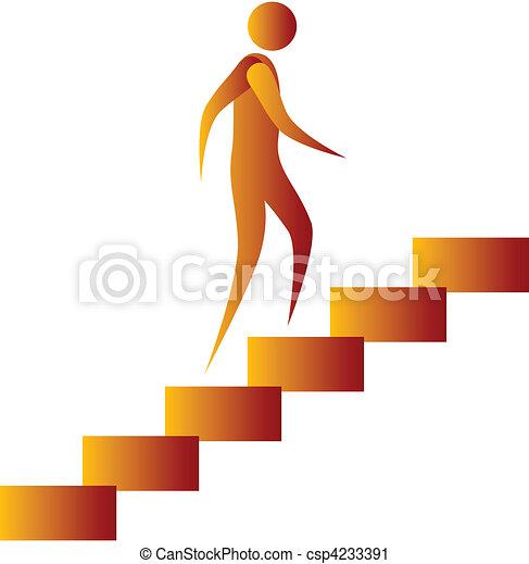 human climbing the stairs - csp4233391