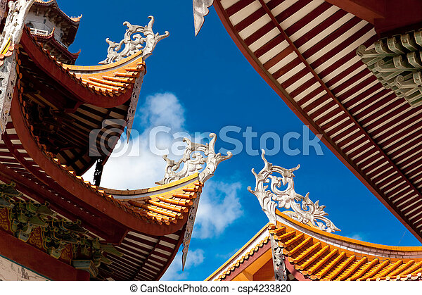 Chinese eaves of temple - csp4233820