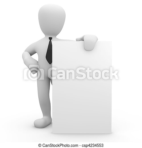 3d image, character poster on white background - csp4234553
