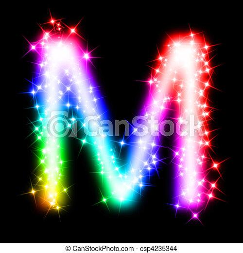 M Alphabet In 3d Dessin de coloré, Alphabet, lettre, -, m - 3D, rendu, Illustration ...