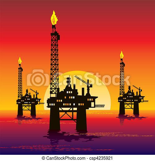 oil platform - csp4235921