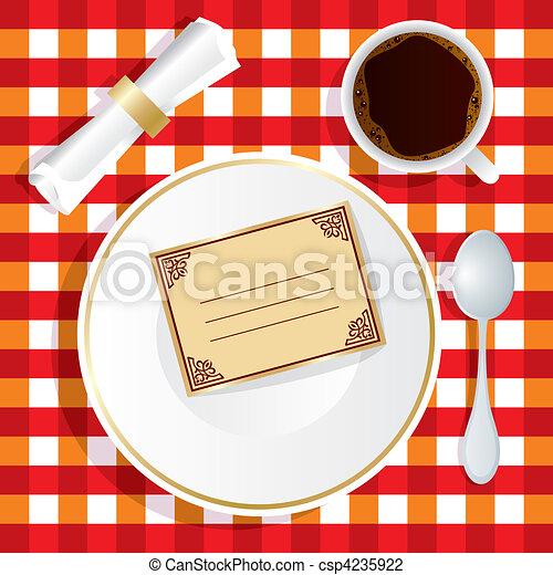 convite, almoço - csp4235922