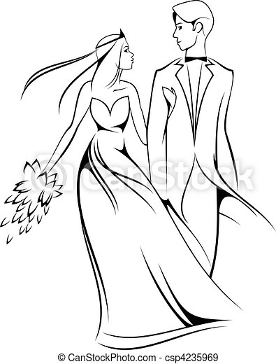 Bride and groom - csp4235969