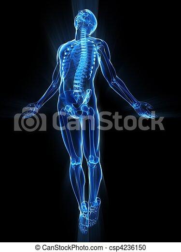 uprising human body  - csp4236150