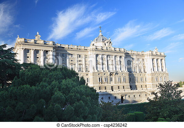 Madrid - Royal Palace facade - csp4236242