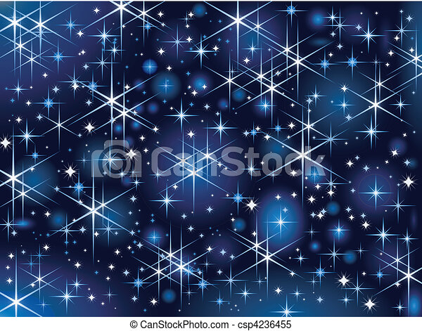 Starbright sky, Christmas sparkle - csp4236455